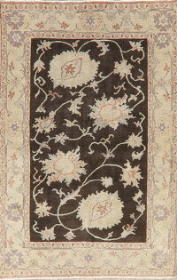 Vegetable Dye Floral Oushak Egyptian Area Rug 5x11