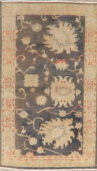 Floral Oushak Turkish Area Rug 4x6