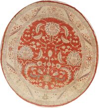 Floral Oushak Turkish Area Rug 9x11 Round