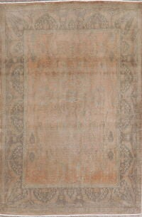 Antique Vegetable Dye Oushak Turkish Area Rug 5x7