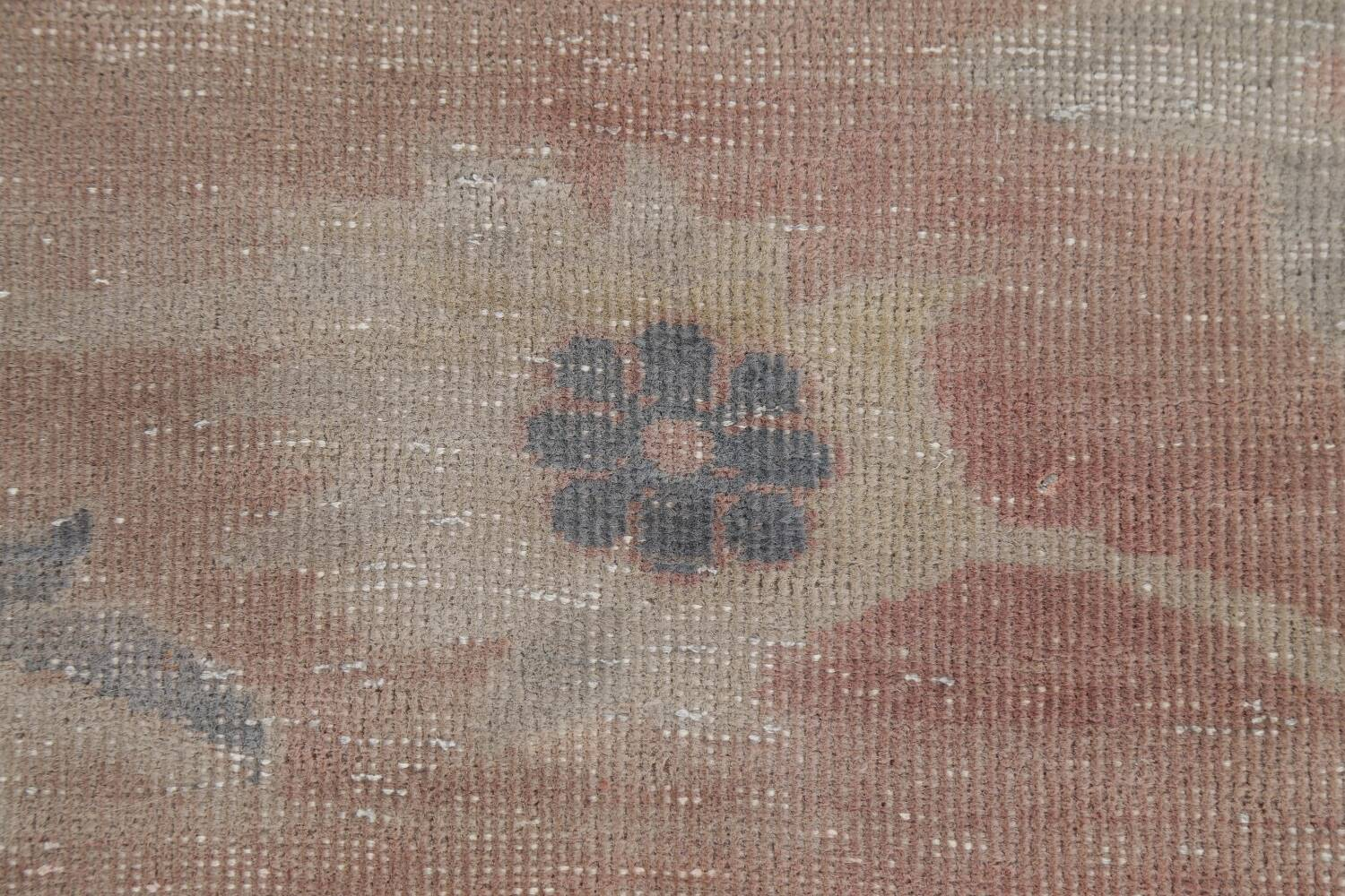 Antique Vegetable Dye Oushak Turkish Area Rug 8x10 image 9