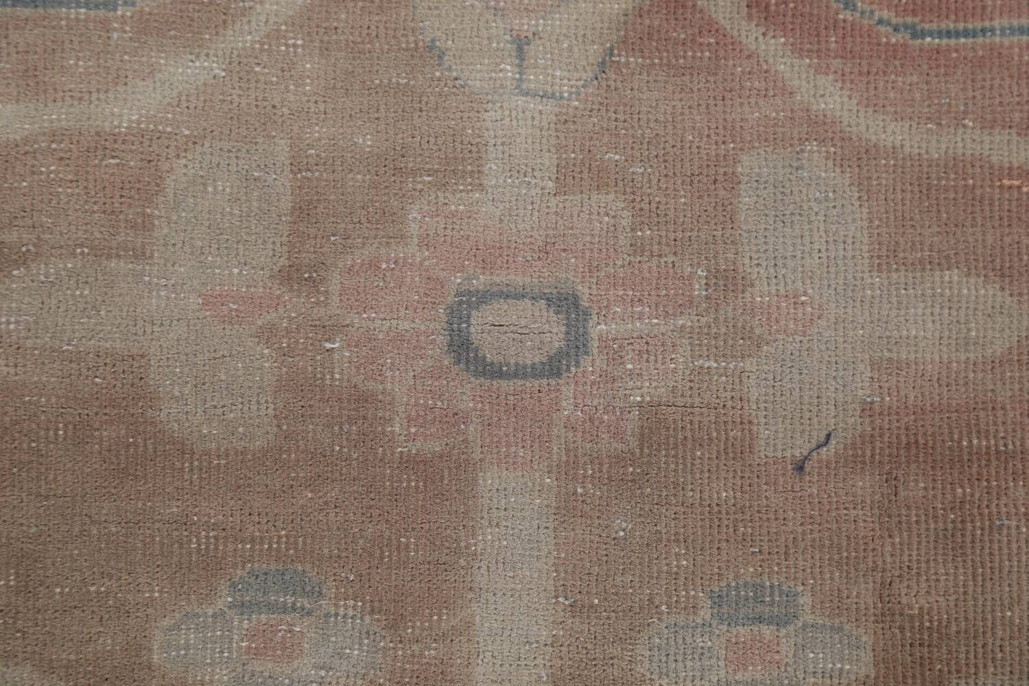 Antique Vegetable Dye Oushak Turkish Area Rug 8x10 image 11