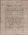 Antique Vegetable Dye Oushak Turkish Area Rug 8x10 image 1