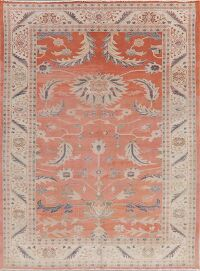 Floral Vegetable Dye Oushak Egypt Area Rug 6x8