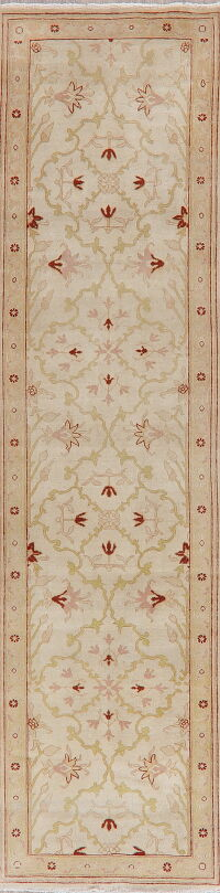 Vegetable Dye Oushak Egypt Runner Rug 3x10