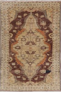 Vegetable Dye Oushak Egyptian Area Rug 5x8