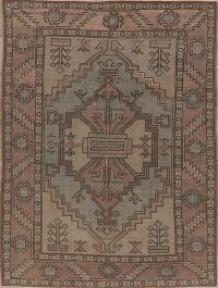 Vegetable Dye Geometric Oushak Oriental Area Rug 6x8