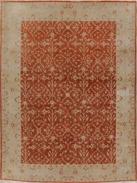 Vegetable Dye Rust Oushak Oriental Area Rug 8x10