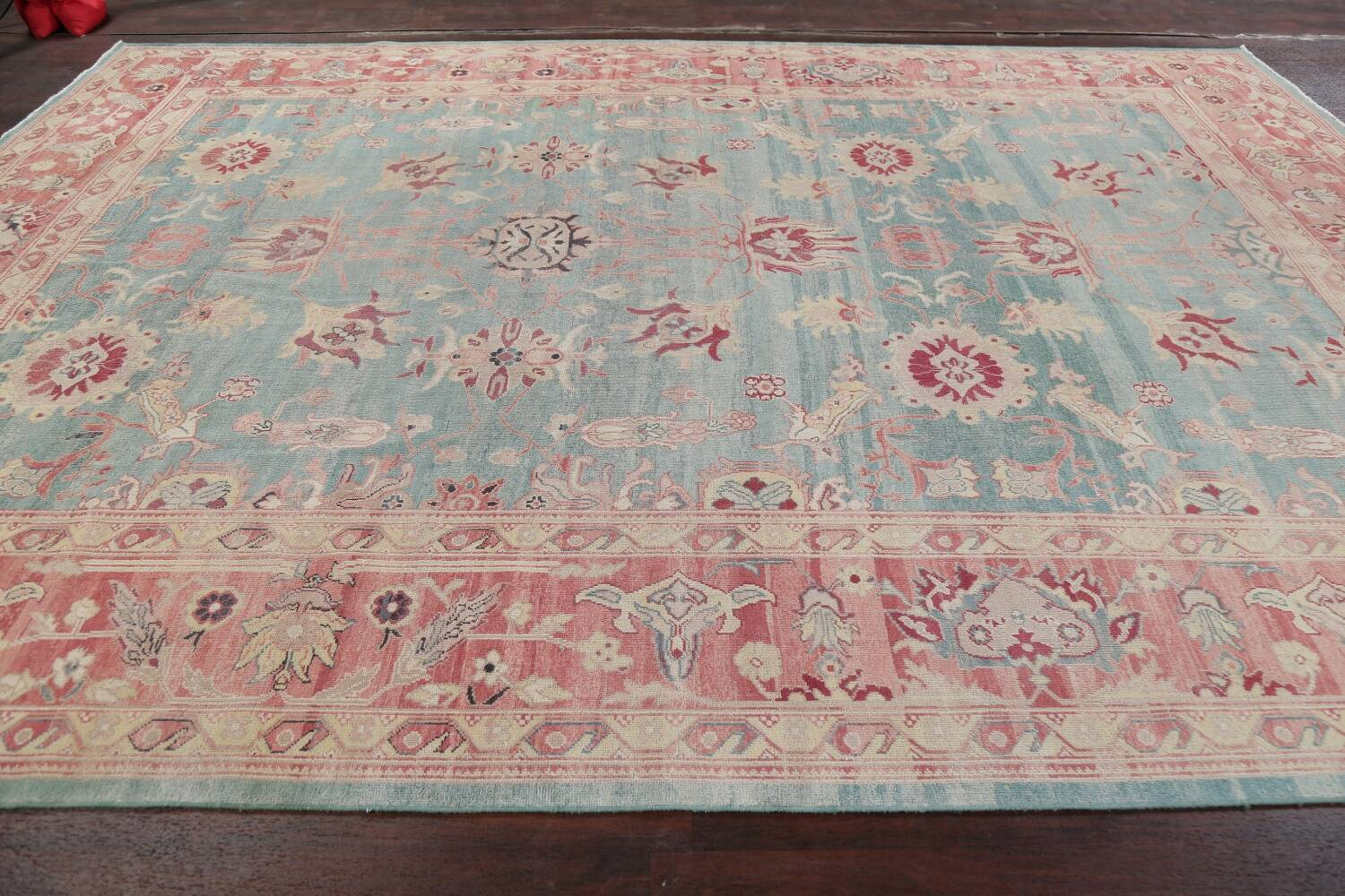 Vegetable Dye Oushak Egyptian Area Rug 9x12 image 13