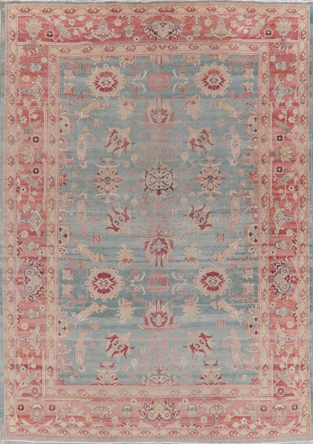 Vegetable Dye Oushak Egyptian Area Rug 9x12 image 1
