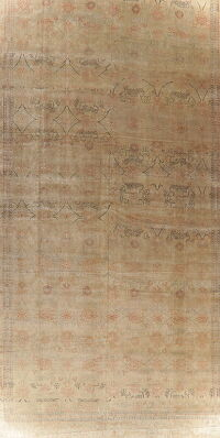 Vegetable Dye Oushak Turkish Area Rug 15x23 Large