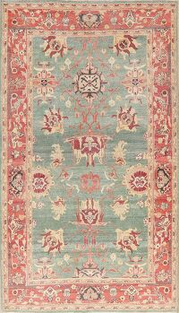Vegetable Dye Oushak Egyptian Area Rug 6x9