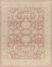Pink Mauve Vegetable Dye Oushak Egyptian Area Rug 8x10