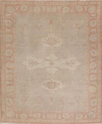 Vegetable Dye Oushak Turkish Area Rug 8x9