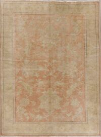 Vegetable Dye Antique Coral Peach Egyptian Area Rug 5x7