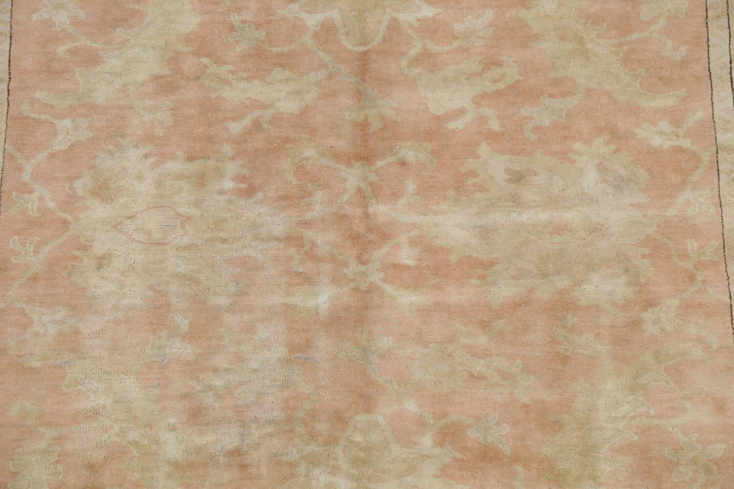 Vegetable Dye Antique Coral Peach Egyptian Area Rug 5x7 image 4