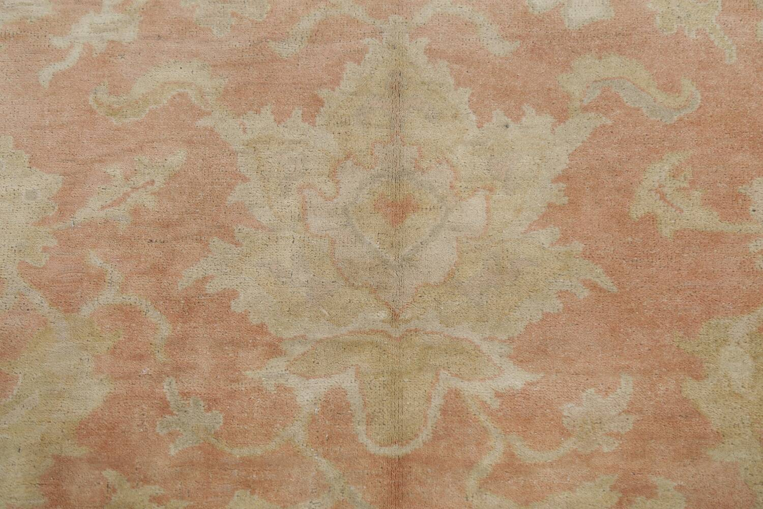 Vegetable Dye Antique Coral Peach Egyptian Area Rug 5x7 image 9