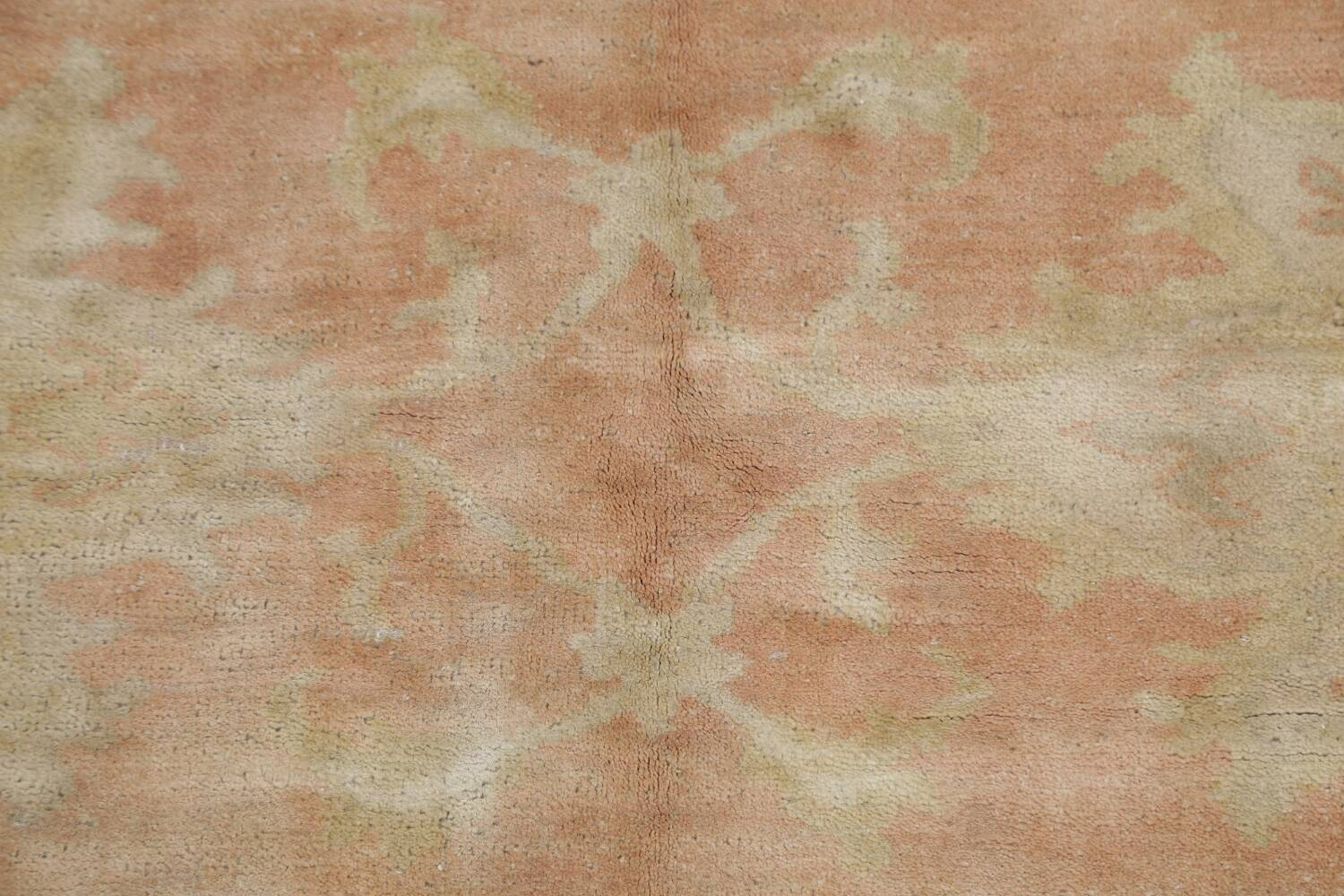 Vegetable Dye Antique Coral Peach Egyptian Area Rug 5x7 image 10