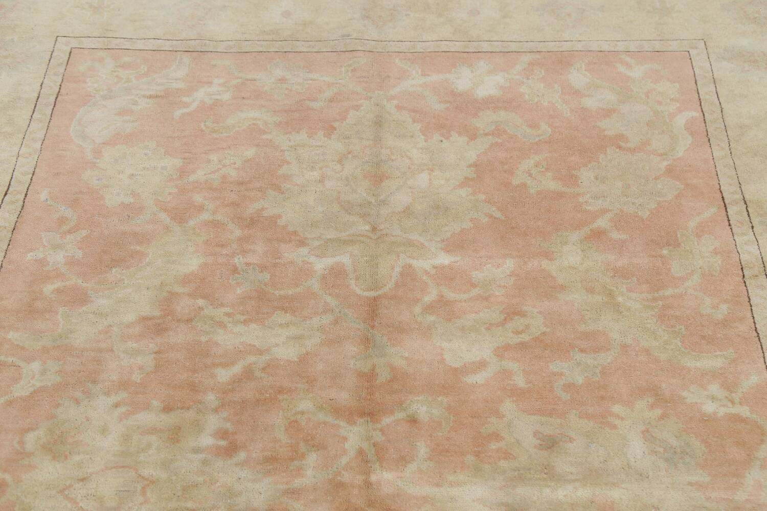 Vegetable Dye Antique Coral Peach Egyptian Area Rug 5x7 image 13