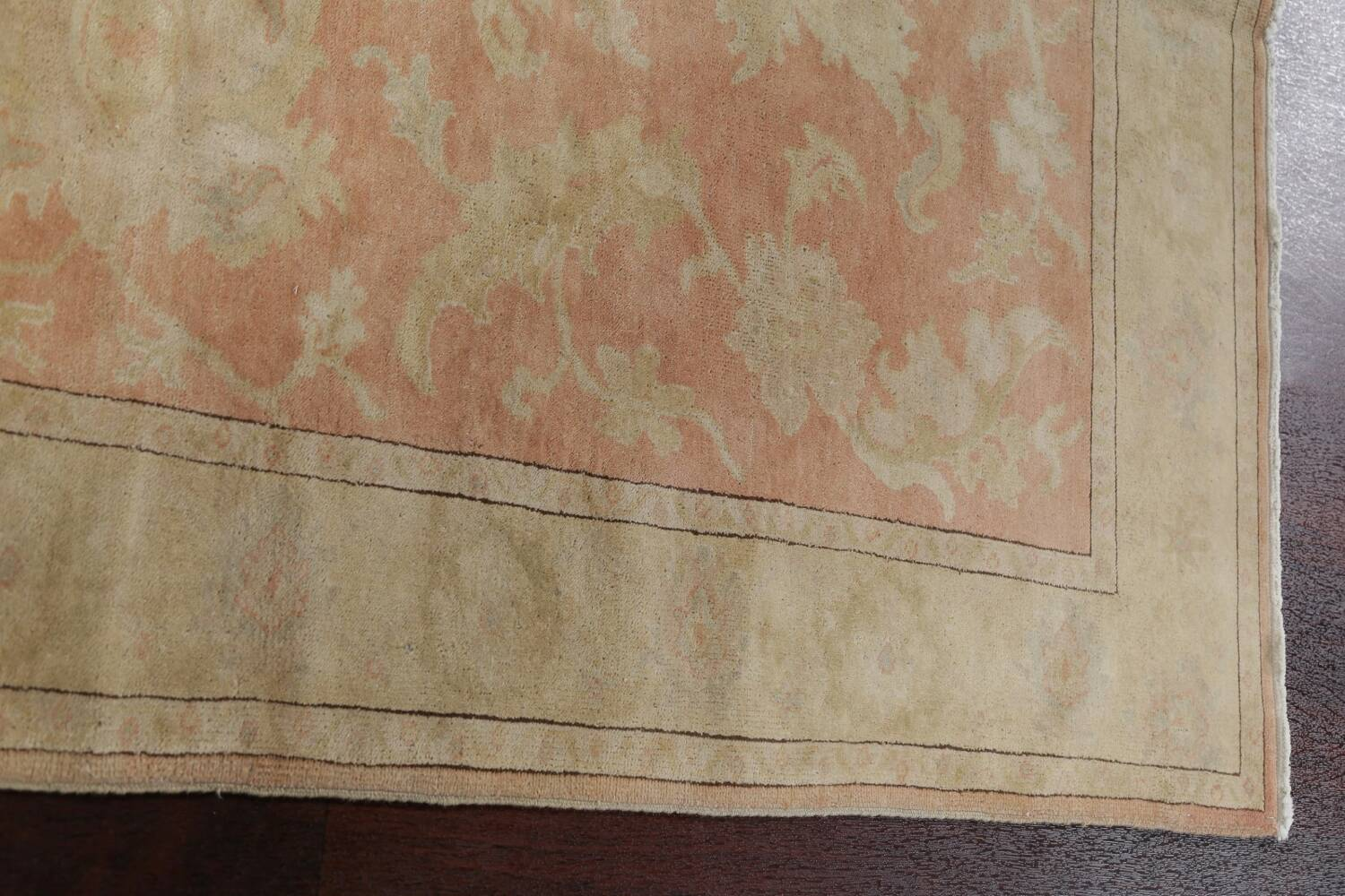 Vegetable Dye Antique Coral Peach Egyptian Area Rug 5x7 image 14