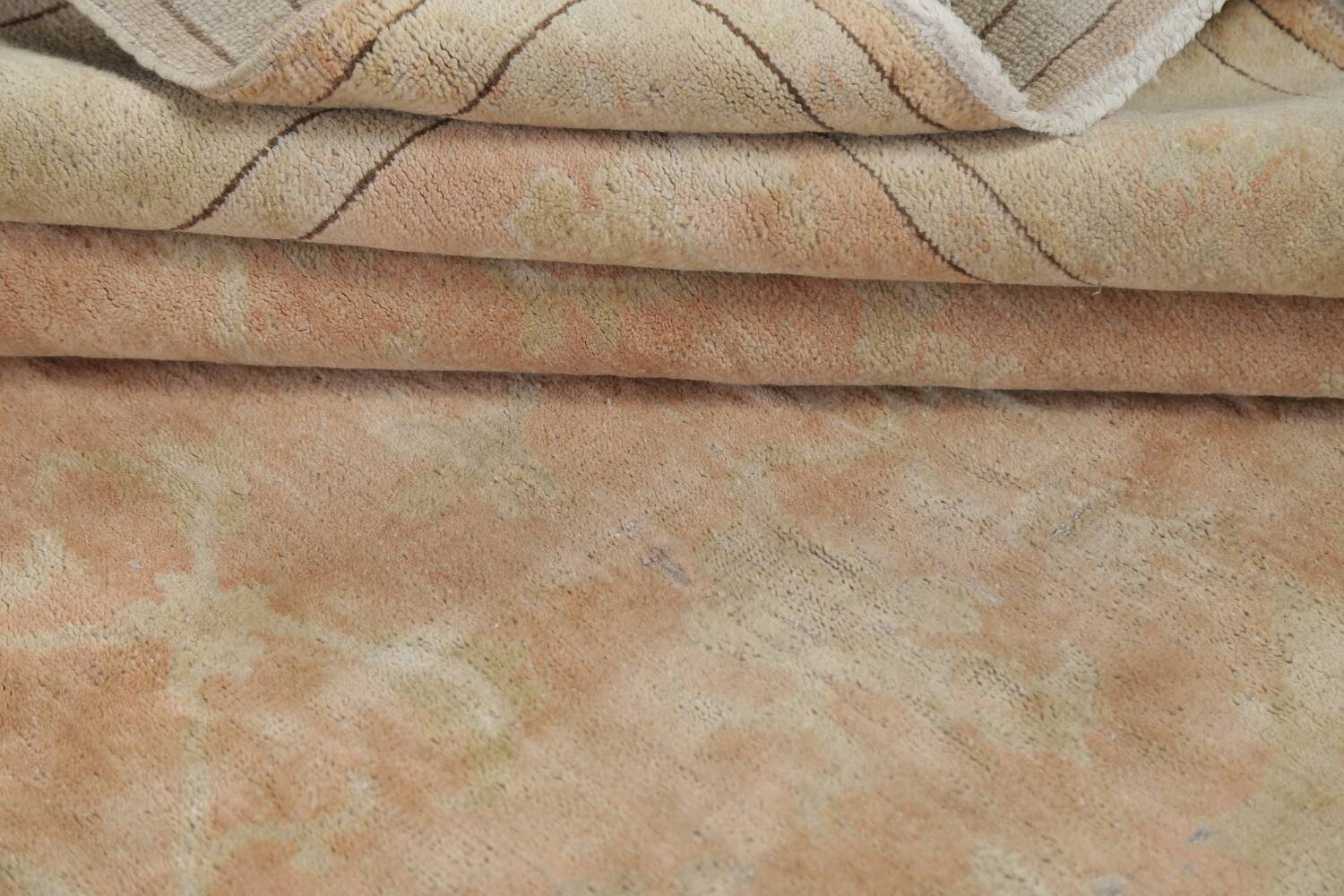 Vegetable Dye Antique Coral Peach Egyptian Area Rug 5x7 image 17