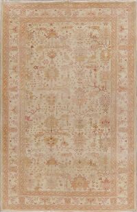 Vegetable Dye Vintage Oushak Turkish Area Rug 6x9