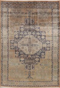 Vegetable Dye Geometric Tabriz Persian Area Rug 6x9