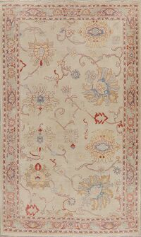 Vegetable Dye Oushak Turkish Area Rug 6x9