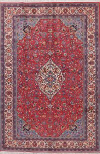 Red Floral Sarouk Persian Area Rug 7x10