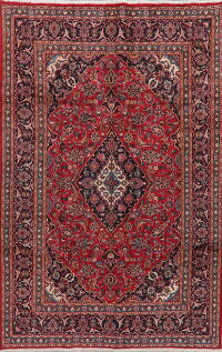 Traditional Floral Kashan Persian Area Rug 7x10