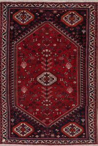 Vintage Geometric Red Lori Persian Area Rug 5x7