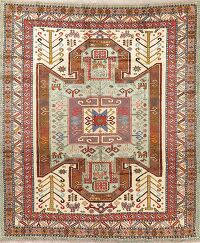 Tribal Geometric Mahal Persian Area Rug 7x9