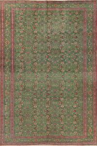 Vegetable Dye Antique Green Anatolian Persian Area Rug 7x9