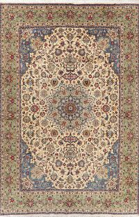 Vegetable Dye Vintage Floral Kashan Persian Area Rug 8x12