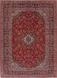 Traditional Floral Red Kashan Persian Area Rug 8x11