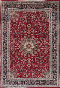 Floral Red Kashmar Persian Area Rug 8x12