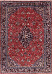 Vintage Floral Red Sarouk Persian Area Rug 10x14