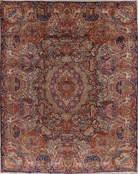 Vintage Dynasty Pictorial Kashmar Persian Area Rug 10x12