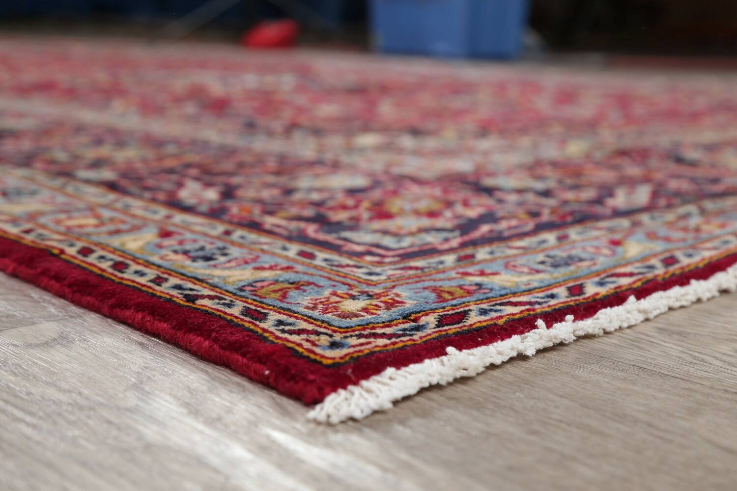 Traditional Floral Red Kashan Persian Area Rug 8x12 image 6