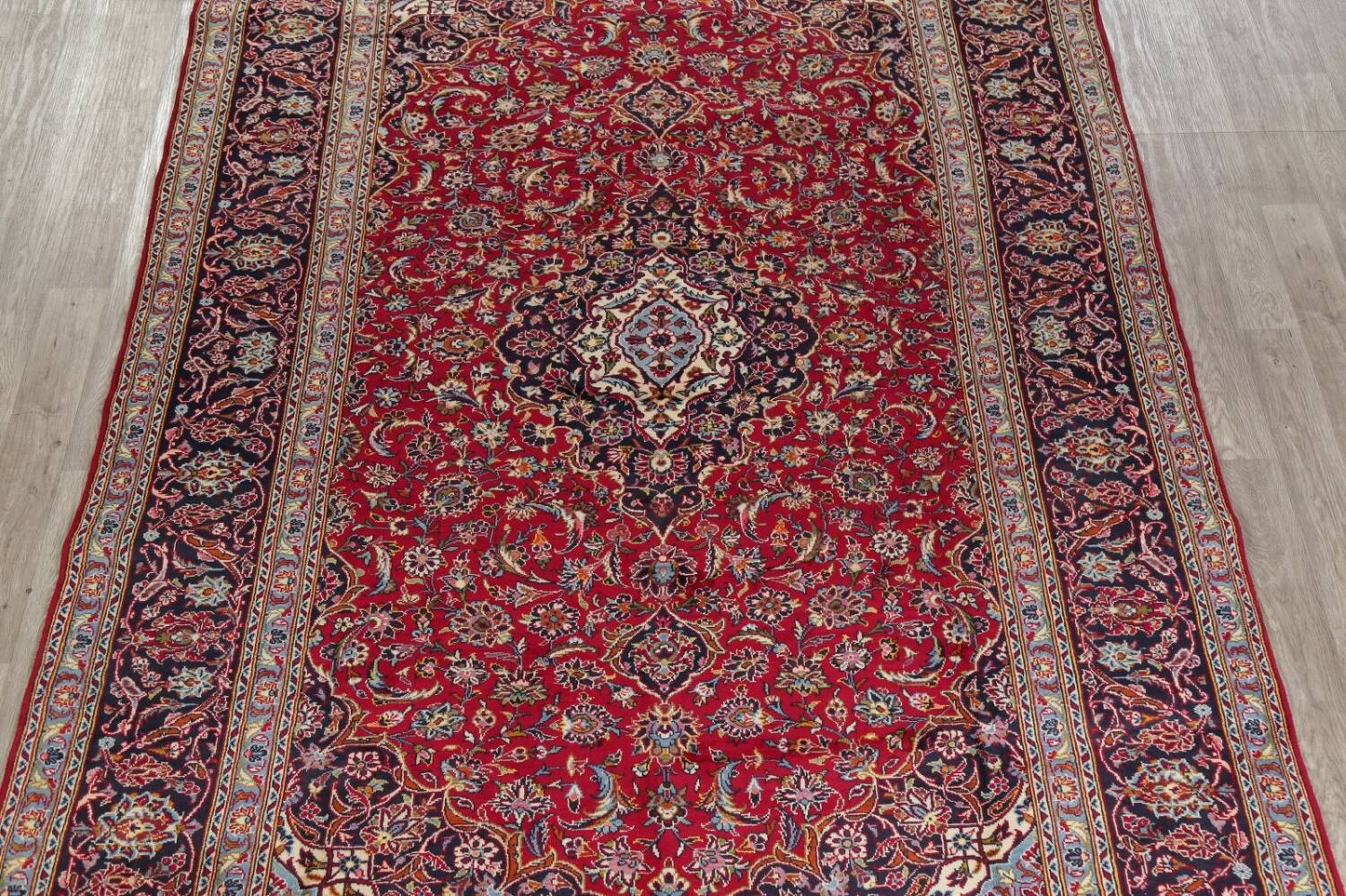 Traditional Floral Red Kashan Persian Area Rug 8x12 image 3