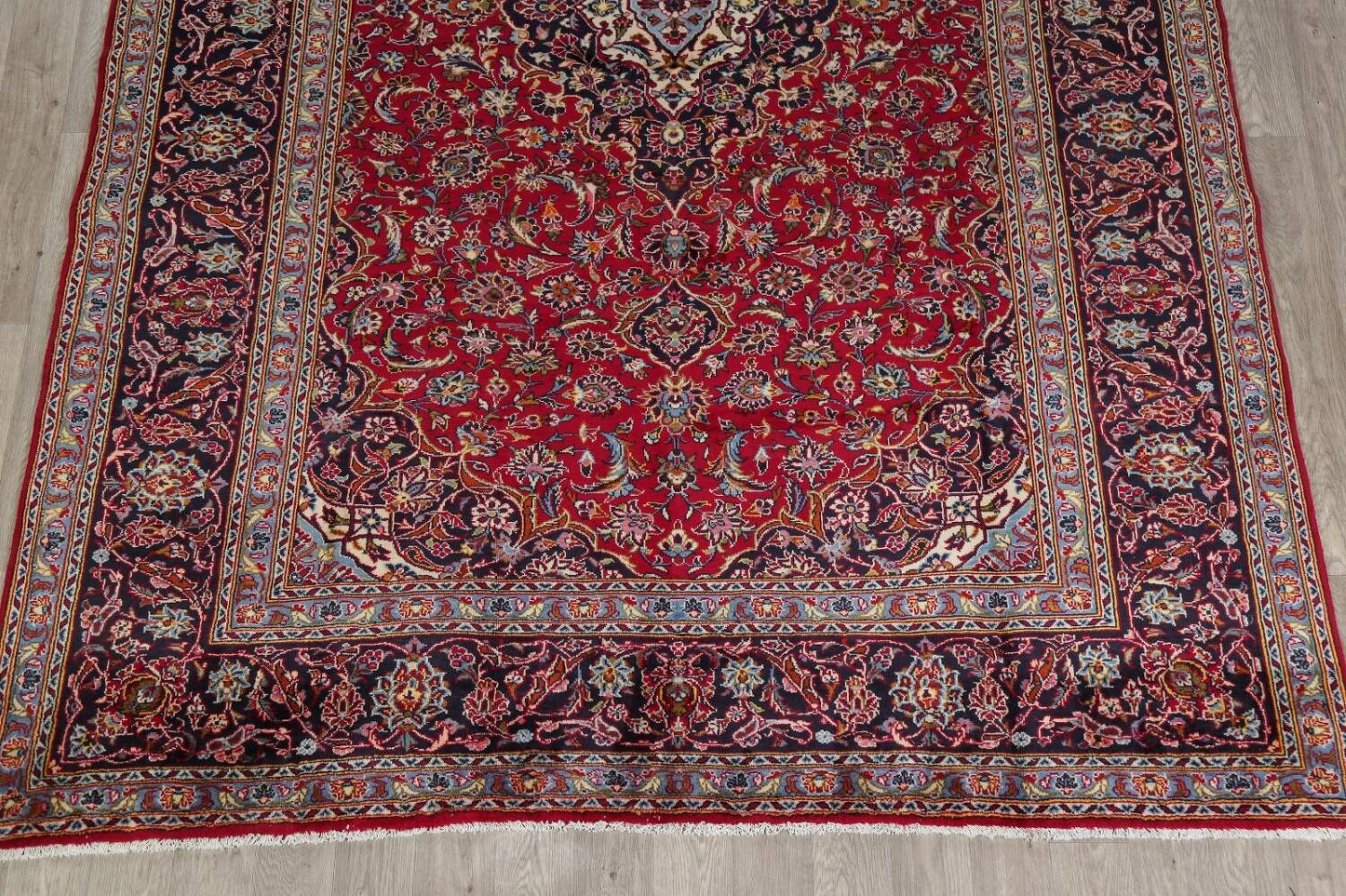 Traditional Floral Red Kashan Persian Area Rug 8x12 image 8