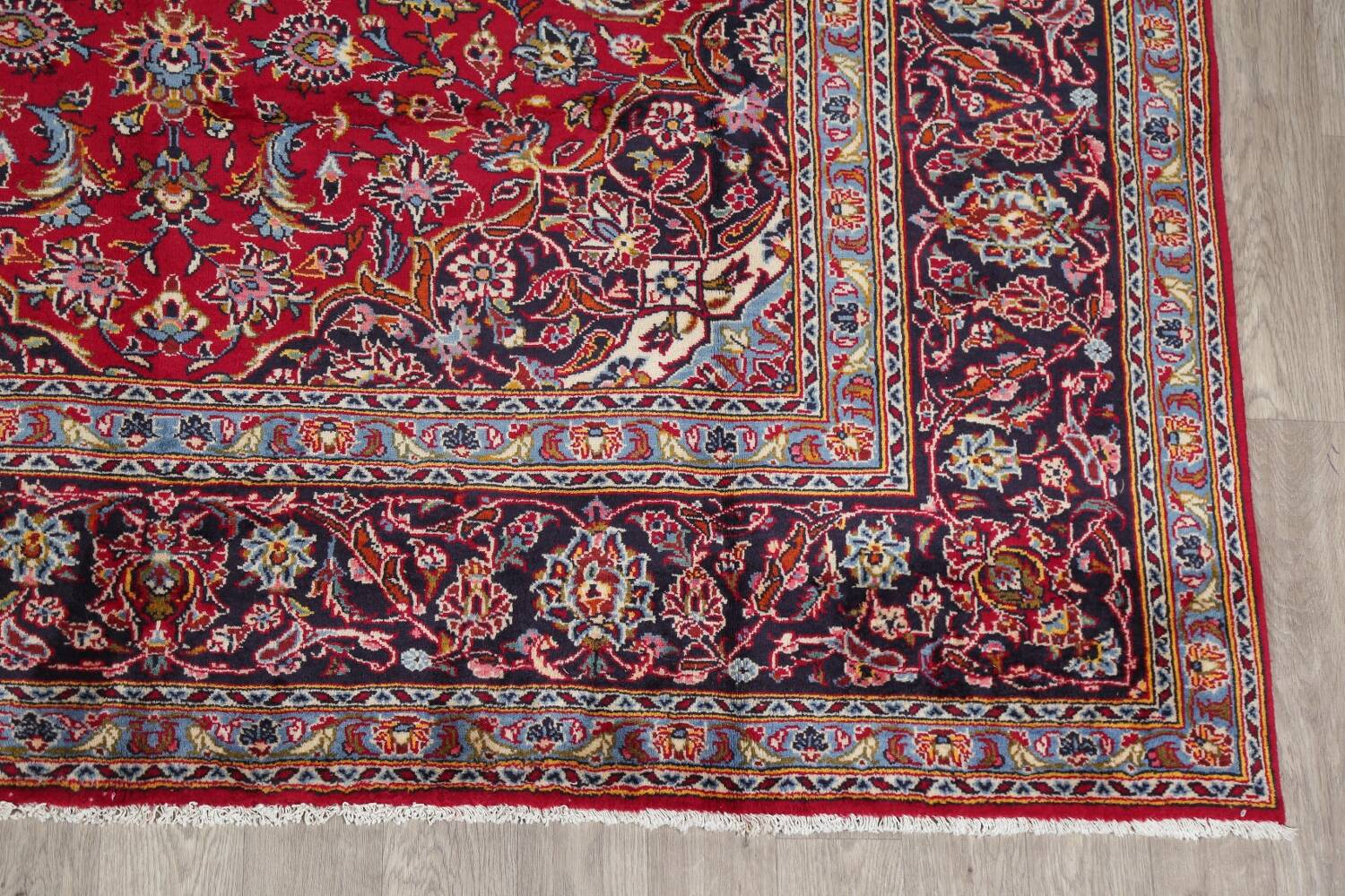 Traditional Floral Red Kashan Persian Area Rug 8x12 image 5