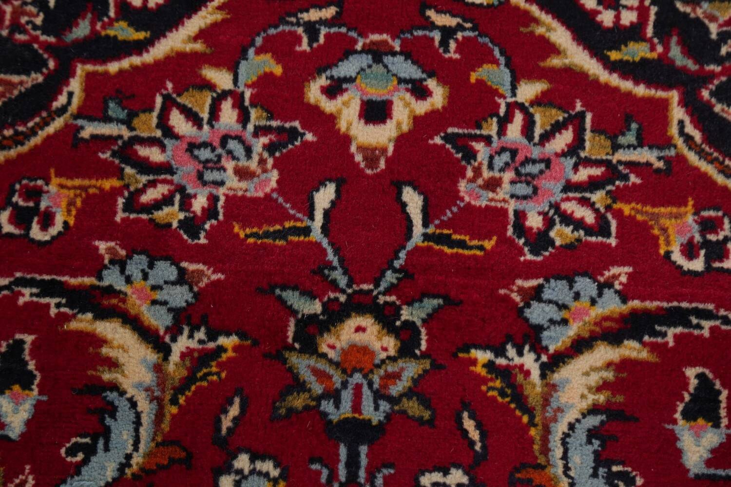 Traditional Floral Red Kashan Persian Area Rug 8x12 image 10
