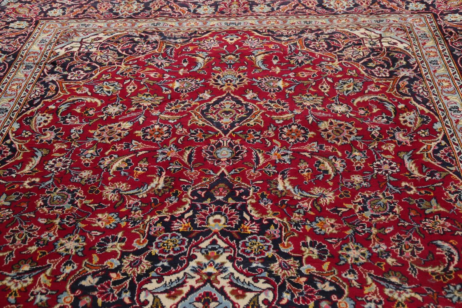 Traditional Floral Red Kashan Persian Area Rug 8x12 image 15