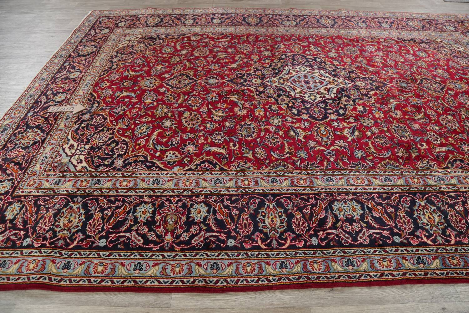 Traditional Floral Red Kashan Persian Area Rug 8x12 image 14