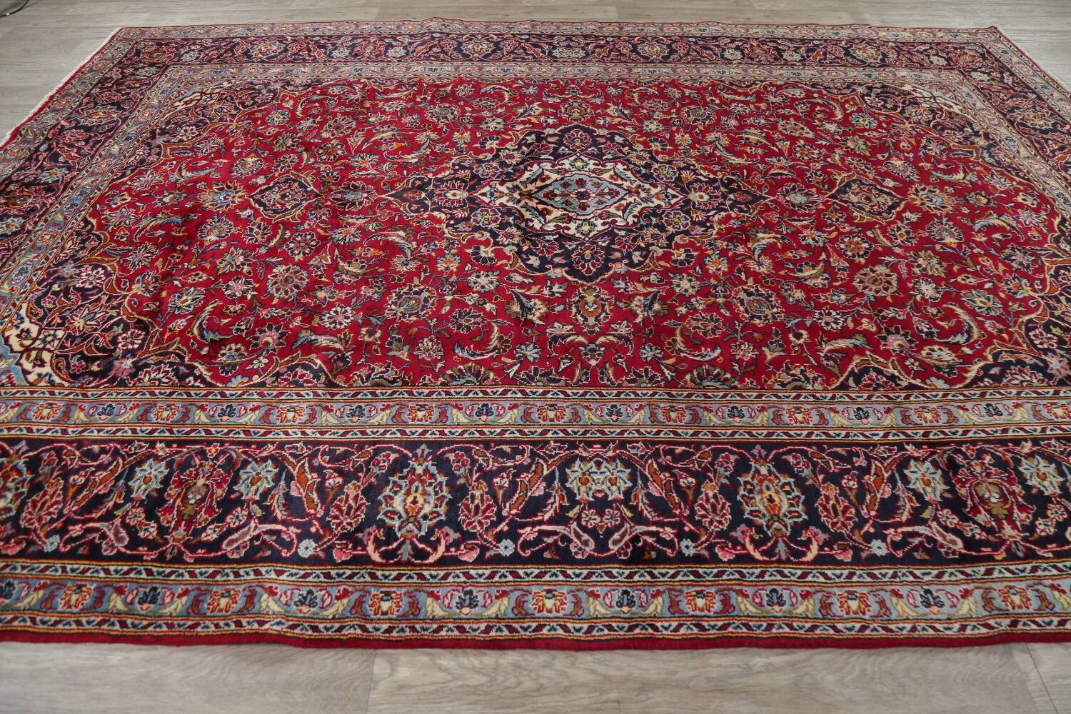 Traditional Floral Red Kashan Persian Area Rug 8x12 image 17