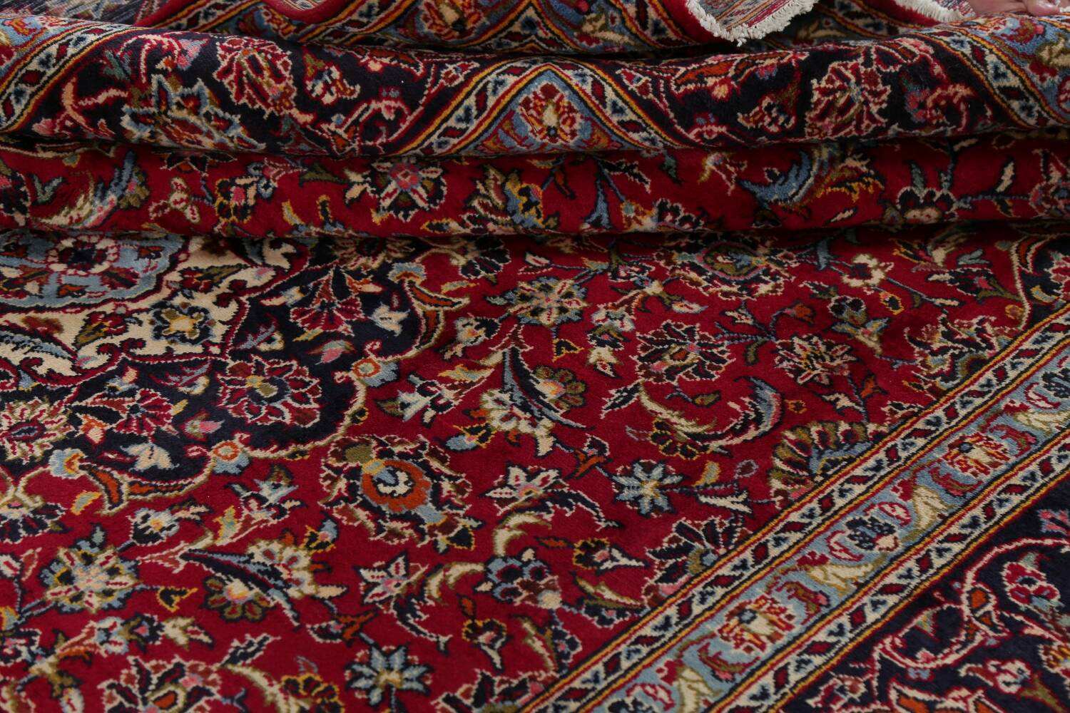 Traditional Floral Red Kashan Persian Area Rug 8x12 image 19