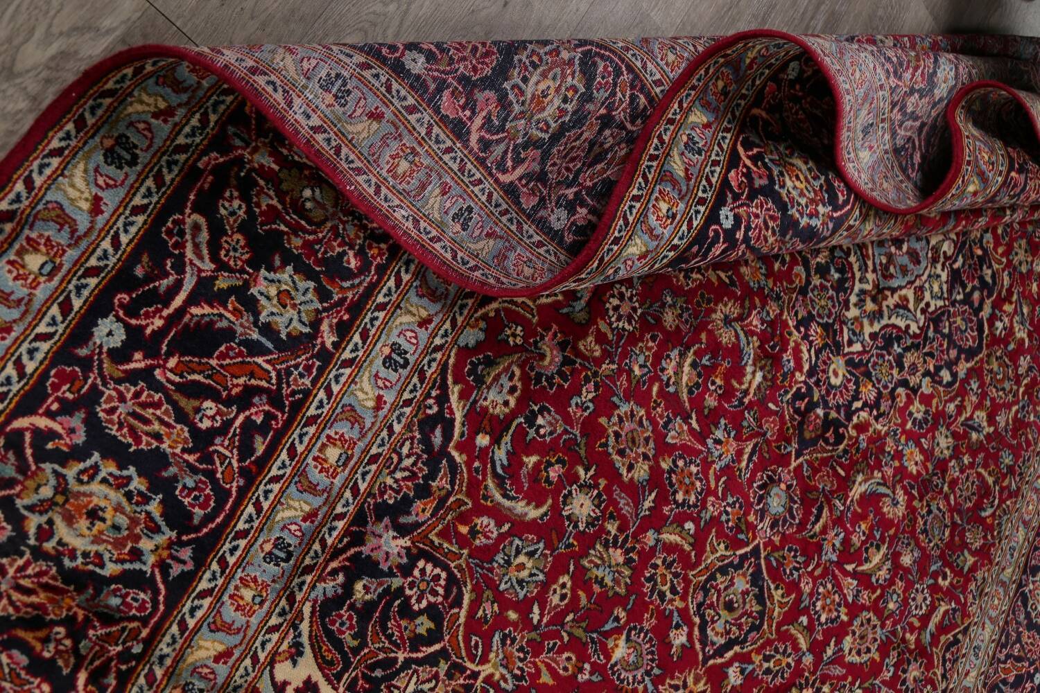 Traditional Floral Red Kashan Persian Area Rug 8x12 image 20