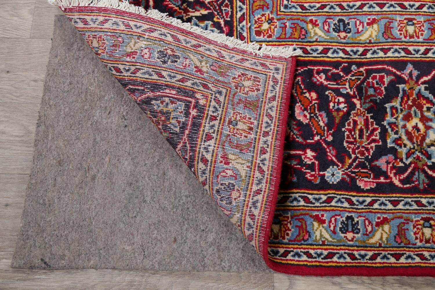 Traditional Floral Red Kashan Persian Area Rug 8x12 image 7