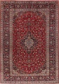 Traditional Floral Red Kashan Persian Area Rug 8x12 image 1